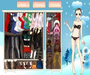 Cute Winter Coat Dress Up gra online