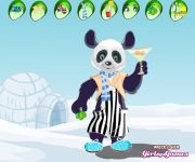 Panda Lounger Dress Up gra online