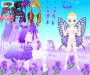 Purple Butterfly Dress Up gra online