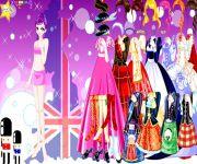 Ubieranka z Brytyjskimi Sukniami gra online