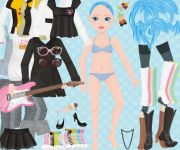 Blue-Haired Rocker Dress Up gra online