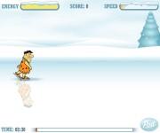 Flinston na łyżwach gra online