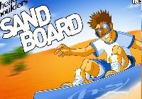 Snowboardem po piasku gra online