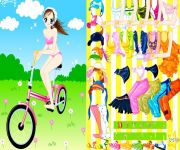 Ubierz Cyklistkę gra online