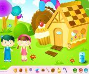 Udekoruj Chatkę z Piernika gra online